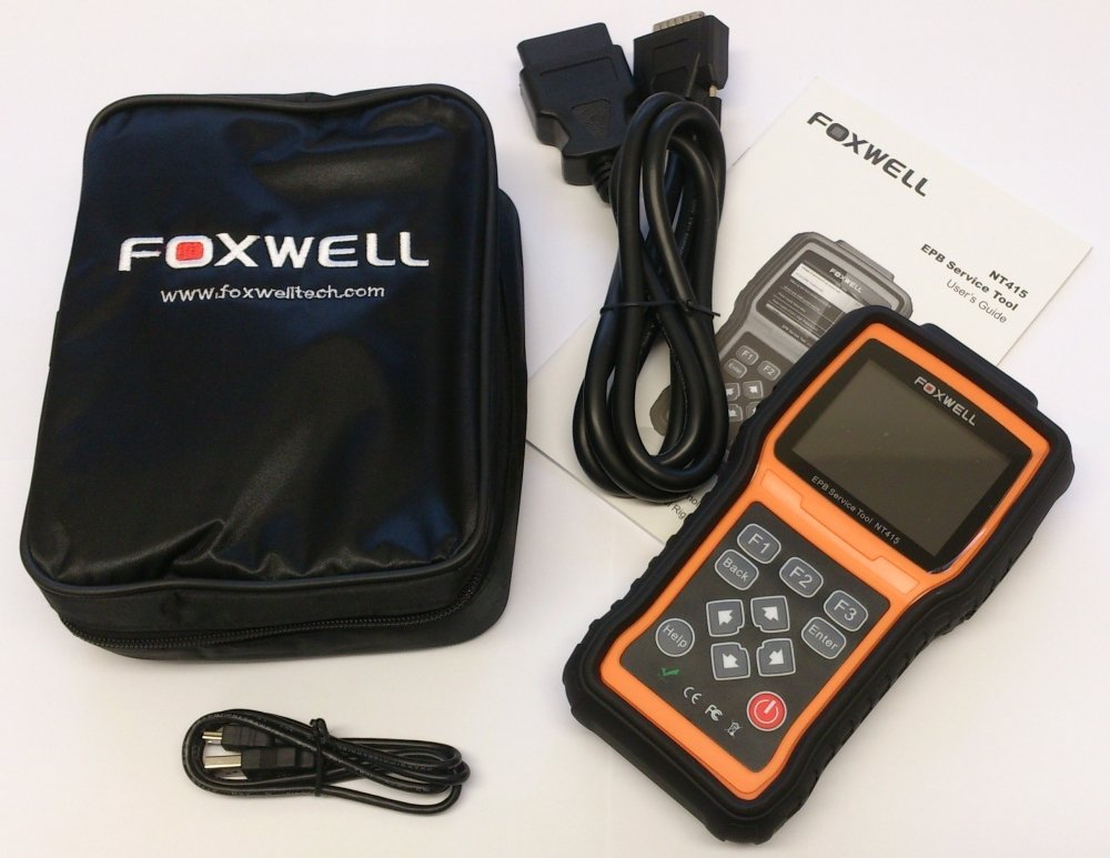 FOXWELL NT415 Professional EPB Service Tool with Engine Diagnostic Scanner