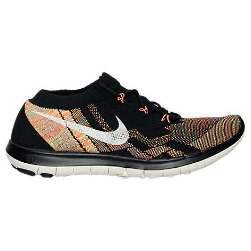 Amazon.com | Nike Womens Free 3.0 Flyknit Running Shoes, Black/Sail/Hyper  Orange/Volt (8.5) | Road Running