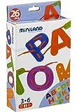 Miniland 95233 - Juego para hilar letras del abecedario, 26 piezas [Importado de Alemania]