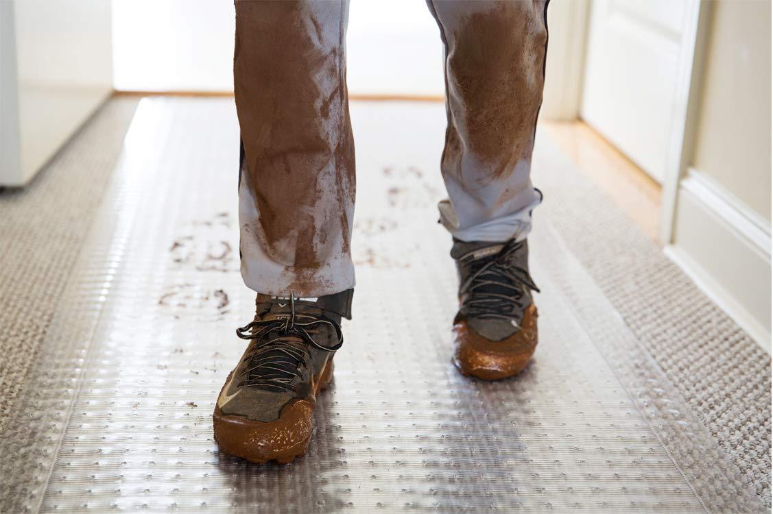 36-Inch by 20-Feet Clear ES Robbins Ribbed Runner