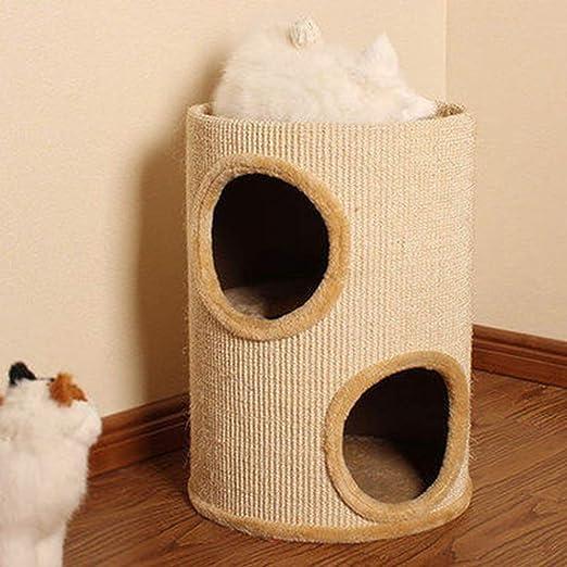 Pet Muebles para Gatos, Estructura de Escalada para Gatos, Tubo de sisal, Árbol de Gato, Nido de Gato, Juguete para Gato, Columna de arañazos de Gato, 30X30X70 cm: Amazon.es: Hogar