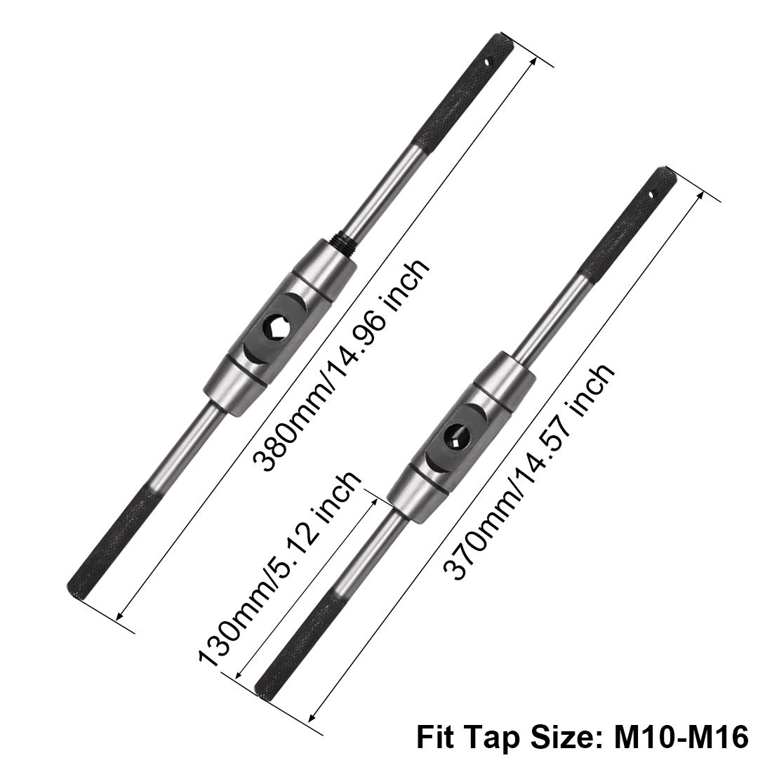 uxcell Tap Wrench Handle M6-M20 Metric Adjustable Bar Taps Holder Straight Tapping Wrench 1//4-3//4