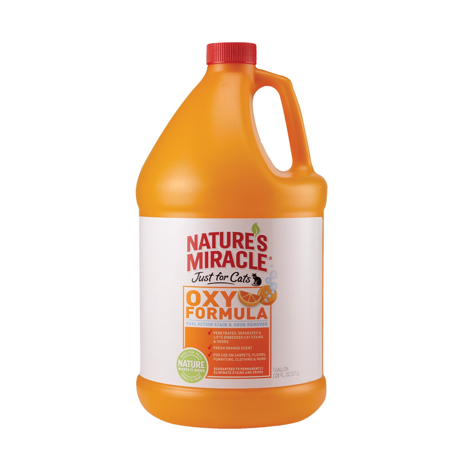 Nature's Miracle Just For Cats Orange Oxy Stain & Odor Remover, Gallon (5705) by Nature's Miracle