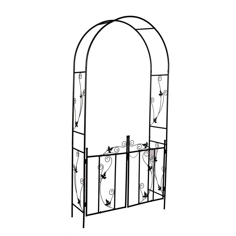 """Better Garden Steel Garden Arch, 7'6"""" High x 3'9"""" Wide, Garden Arbor for Various Climbing Plant, Outdoor Garden Lawn Backyard"""
