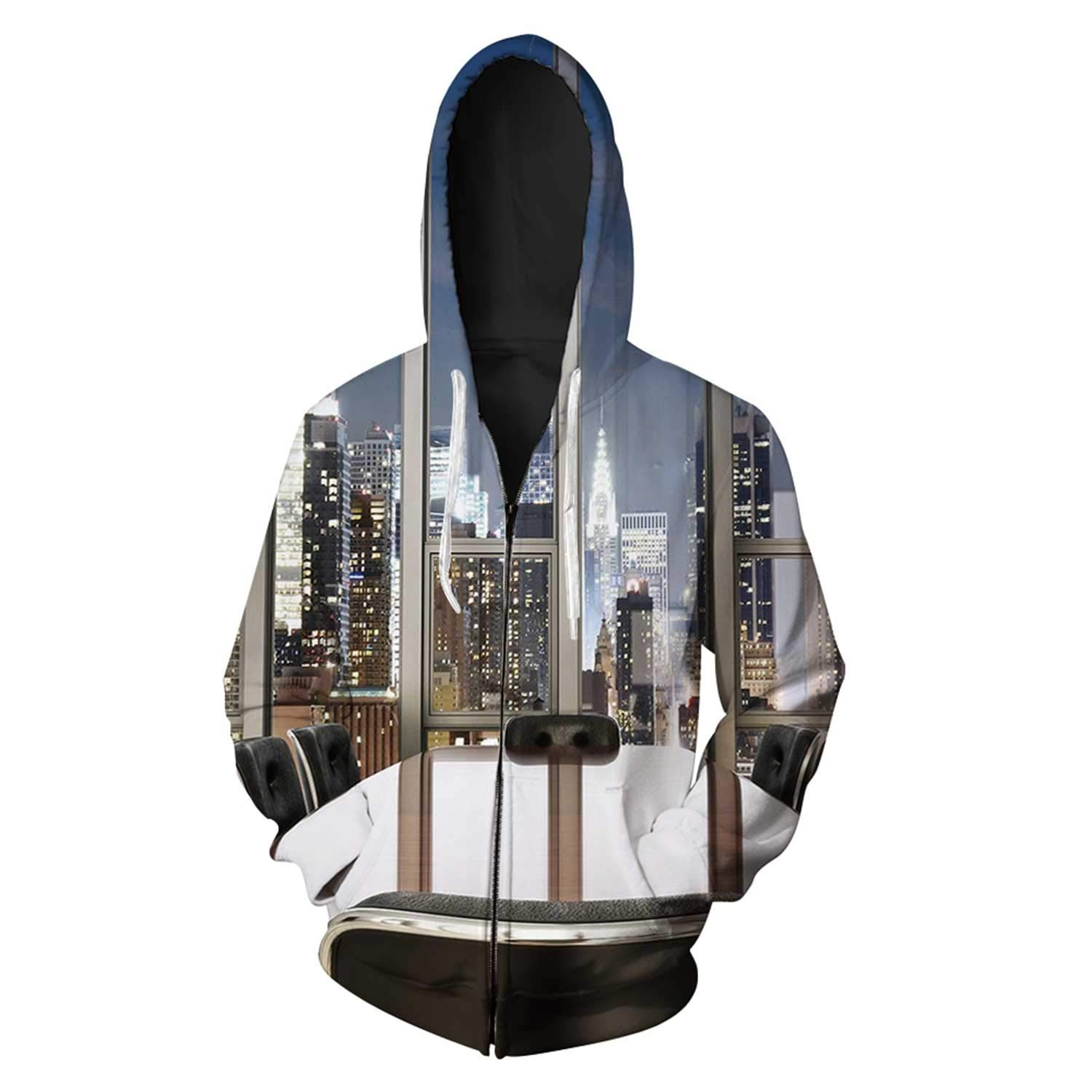 Modern Decor Simple Full Zipper Hoodies for Home by C COABALLA