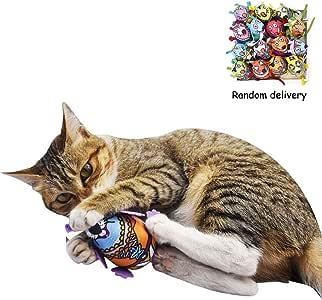 Fewao 1 Juguetes para Gatos Hechos a Mano para Gatos, Masticar Ratones, Ratones de Felpa, Juguetes para Gatos con Campanas para Mascotas, Gatos y Gatitos: Amazon.es: Productos para mascotas