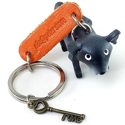 Mapache 3d animal estilo So cute Handcraft piel llavero ...