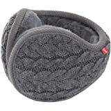 Surblue Unisex Warm Knit Earmuffs Ladies Cashmere Winter Pure Color Outdoor Fur Earwarmer, Adjustable Wrap