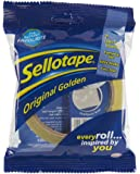 Sellotape Original Golden Sticky Tape / Strong and extra sticky adhesive tape / Applies clear / 1 roll x 50m