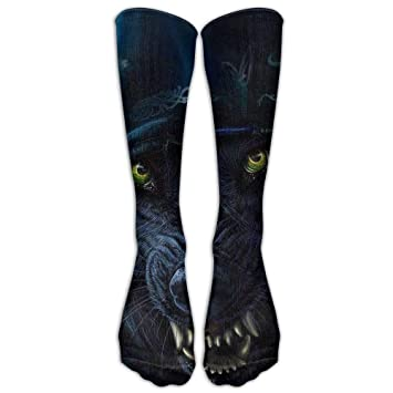 Yuerb Calcetines Altos Gifts - Cool Ice Fire Wolf King Print Stockings Breathable Hiking Socks Classics