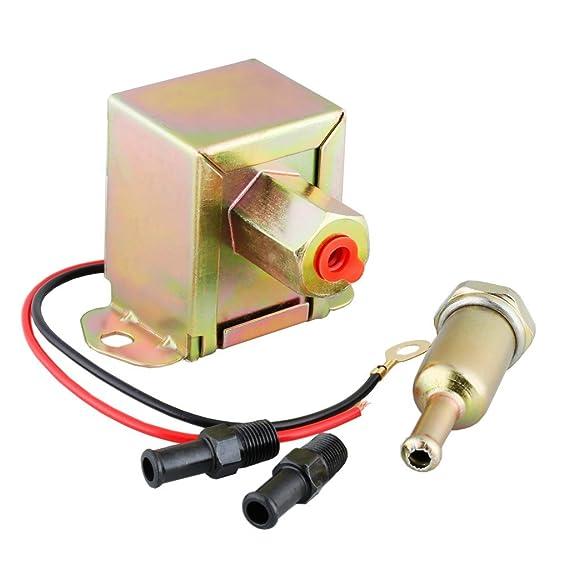 Eléctrica Bomba del Combustible (12V, Tamaño Estándar Universal, 2-4 PSI, 20-30GPH , Gasolina y Diésel, Largo Tiempo de Trabajo): Amazon.es: Coche y moto