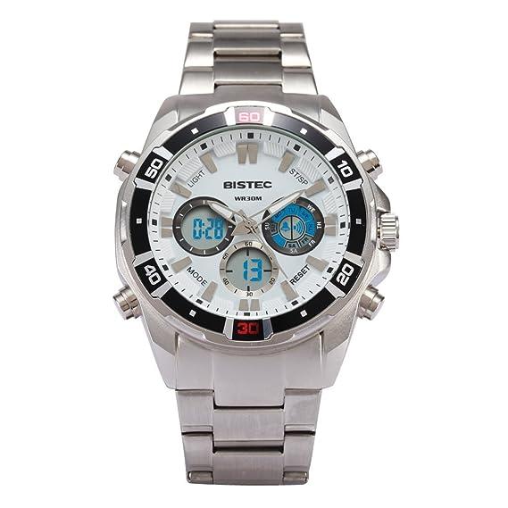 Bistec - Reloj de pulsera digital deportivo para hombre, esfera grande, LED, resistente al agua: Amazon.es: Relojes