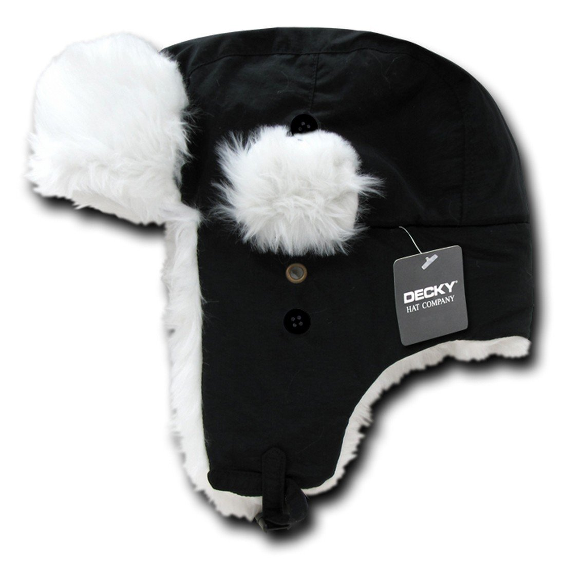 Decky Inc Faux Fur Lined Aviator Pilot Helmet Style Beanie Skull Hat 777