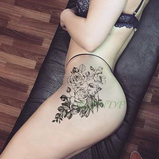 Handaxian 3pcs Flor del Sol de la Hoja de Pescado Tatuaje del ...
