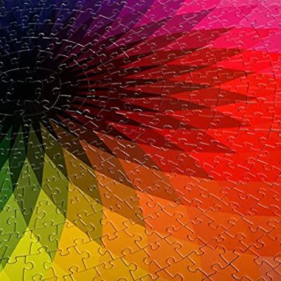 1000 Piece Gradient Jigsaw Puzzles for Adults Teen Large Round Gradient Rainbow Jigsaw Puzzle Intellectual Education Game Stress Reliever Toys for Adults: Toys & Games