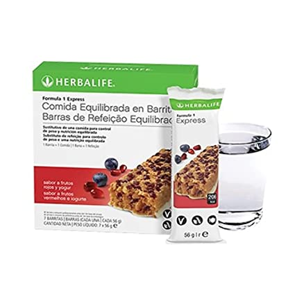 Barritas Fórmula 1 Express Frutos rojos y yogur, caja 7 barritas