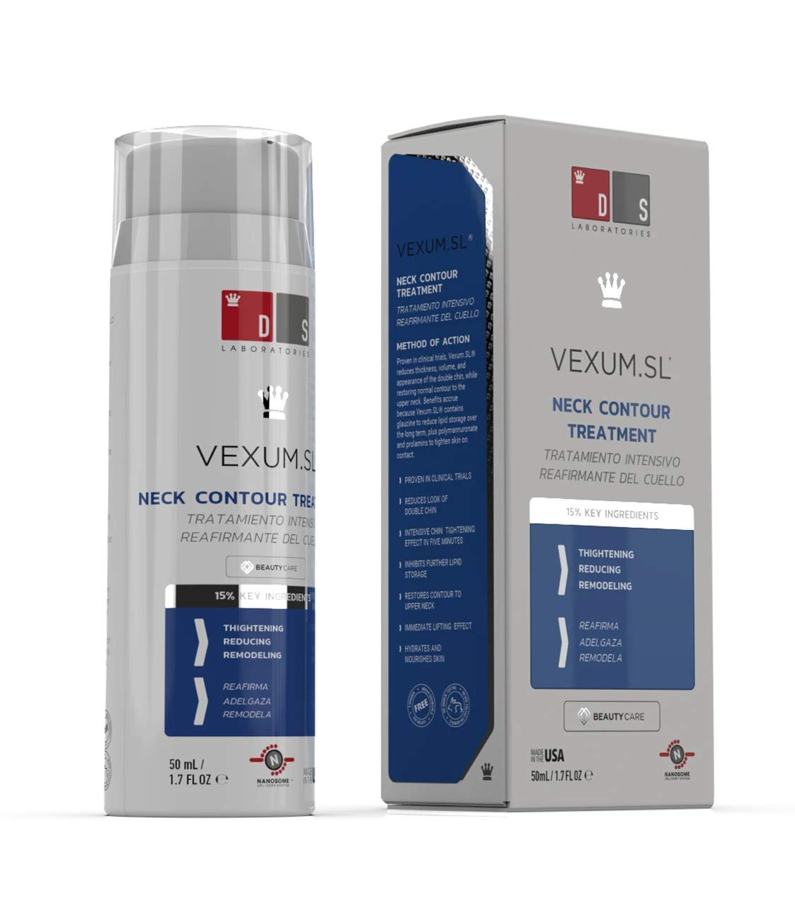 DS Labs Vexum Sl Neck Contour Double Chin Reducer, 1.7 Ounce
