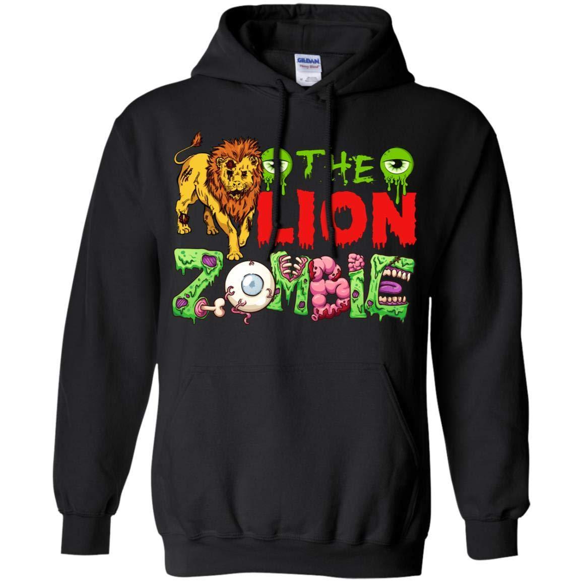 Family Gift Tee Store Lion Zombie Halloween Shirt