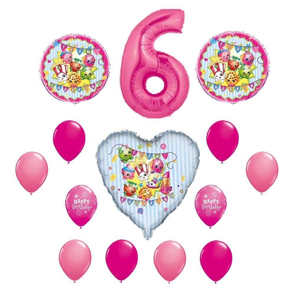 SHOPKINS 6th Sixth BIRTHDAY PARTY Balloons Decorations Supplie 67ff5e