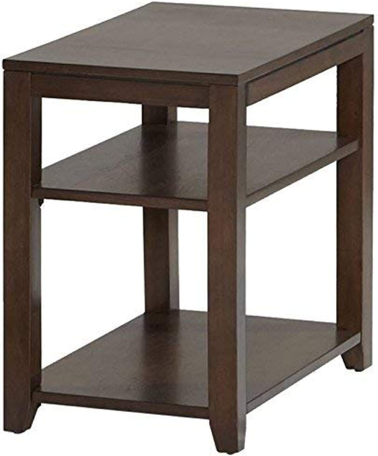 Progressive Furniture Daytona Chairside Table, Regal Walnut