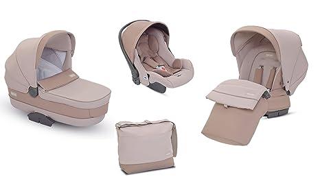 Inglesina AA30H6ECU - Cochecito de bebé Zippy Pro System Trio, color beige Ecrù