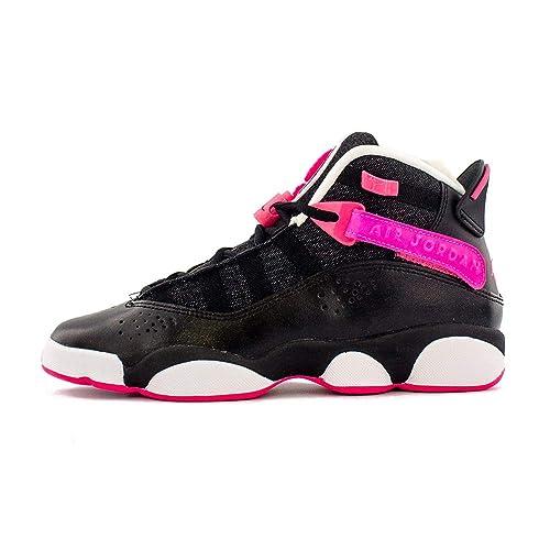 best service 1590c 67ebd Jordan 6 Rings Black/Hyper Pink-White (GS): Amazon.co.uk ...