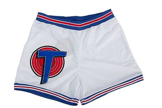 5de87466af3f11 Amazon.com  Space Jam Tune Squad White Basketball Shorts (Adult ...