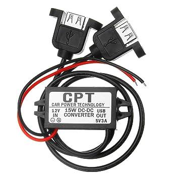 Modulo convertitore CC da auto 12 V a 5 V 3 A 15 W doppio adattatore di potenza di uscita USB
