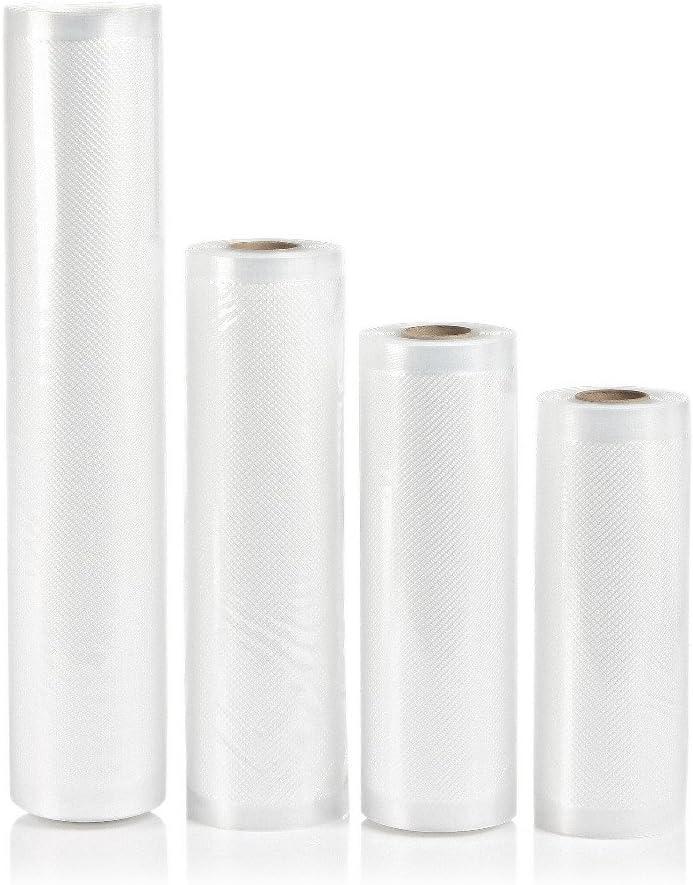 VuHom 2-pack 11X50 Rolls Vacuum Sealer Bags 4 mil Embossed Commercial Grade for Sous Vide and Foodsaver (11