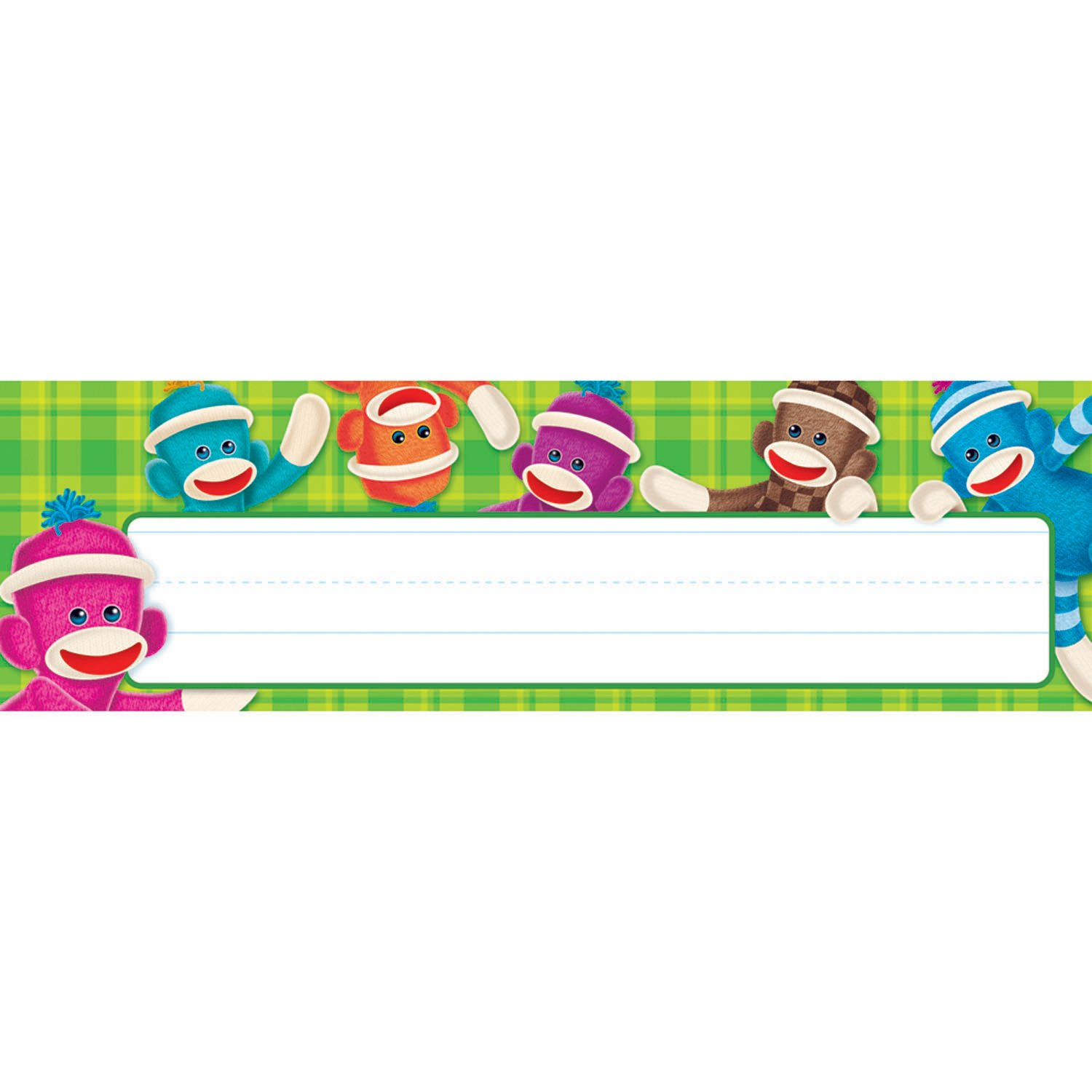 TREND enterprises, Inc. Sock Monkeys Desk Toppers Name Plates, 36 ct T-69235