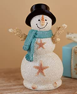 Seas and Greetings Snowman Figurine - Ocean Themed Holiday Decoration
