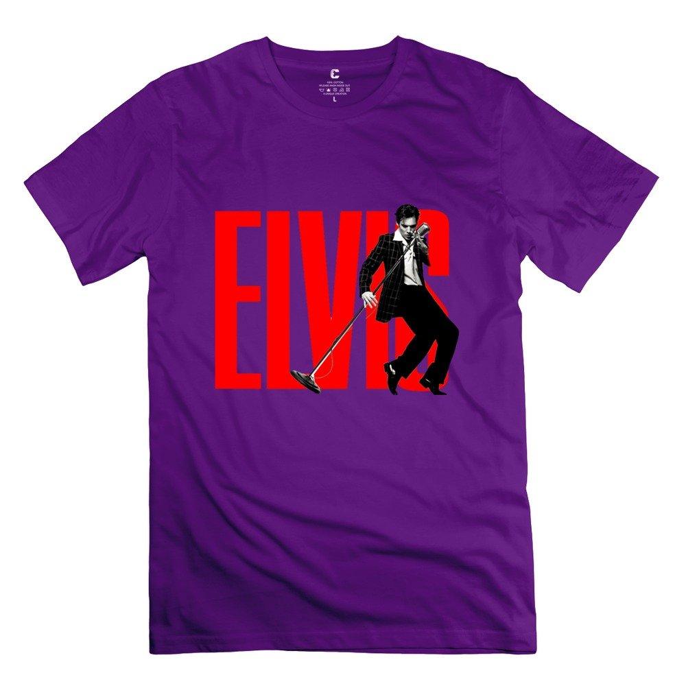MAM2 Arts Geek Elvis Presley Song Mic Pose Men's Tshirt White