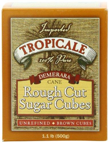 Tropicale Demerara Cane Rough Cut Sugar Cubes, 1.1-Pound Boxes (Pack of 6)