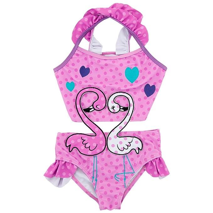 8207a84823bf Amazon.com  JooNeng Baby Girl Bath Suit Kids Swimsuit Swimwear 2Pcs ...