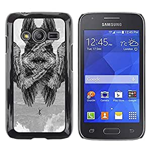 Shell-Star Arte & diseño plástico duro Fundas Cover Cubre Hard Case Cover para Samsung Galaxy Ace4 / Galaxy Ace 4 LTE / SM-G313F ( Wings Bird Meaning Deep Painting )