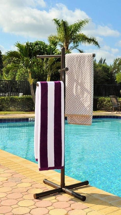 Amazon.com: Jamlyn - Toallero para piscina y spa, de bronce ...