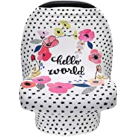 Terriboo Nursing Cover for Newborn Breastfeeding Multi Use Infant Stroller Canopy Unisex Baby Car Seat Cover High Chair…