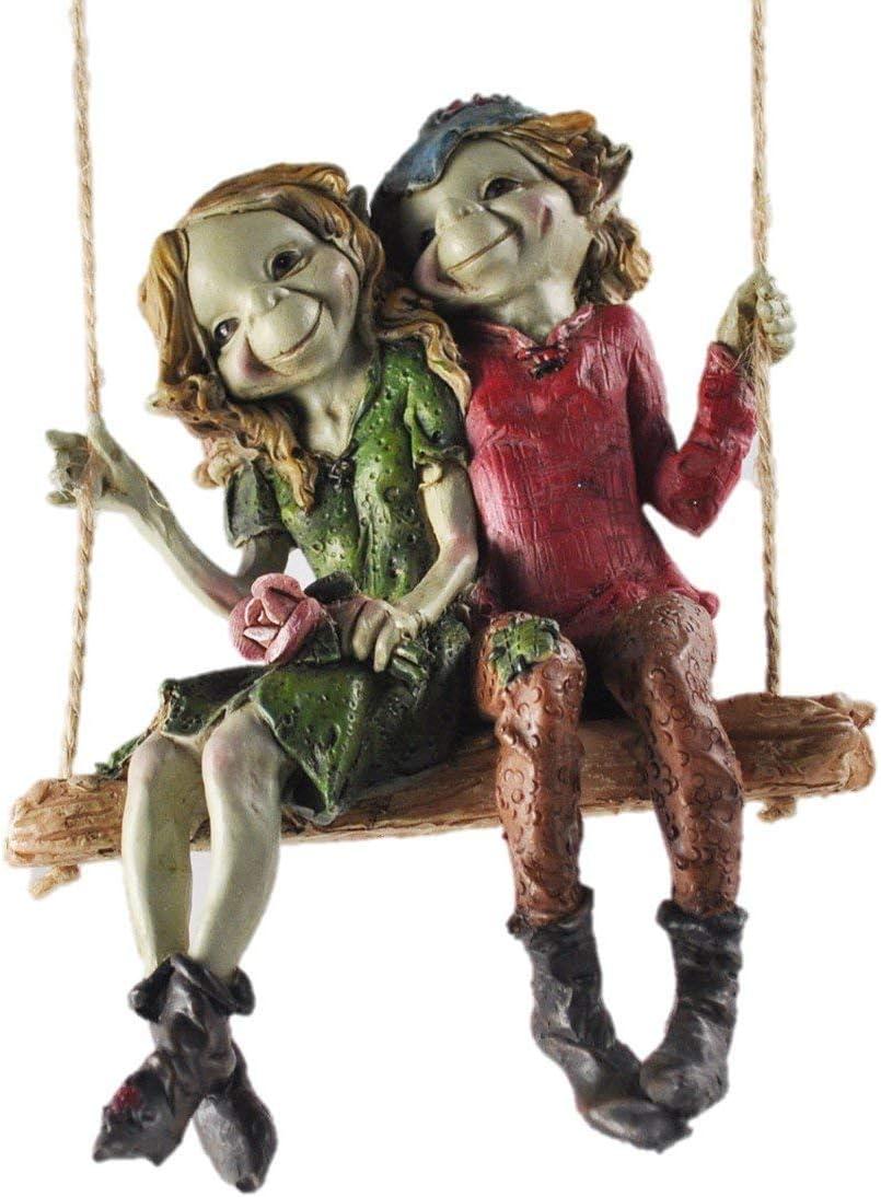 Figuras decorativas para jardín de alta calidad con diseño de duendes y hadas, 12 cm de altura