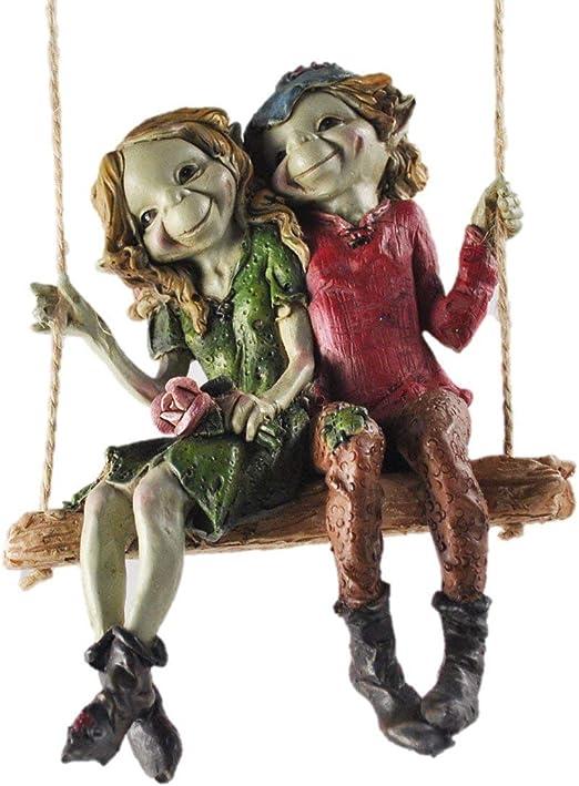 Figuras decorativas para jardín de alta calidad con diseño de duendes y hadas, 12 cm de altura: Amazon.es: Jardín
