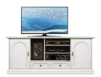 Arteferretto Mueble de TV en Madera Maciza, Mueble de salón ...