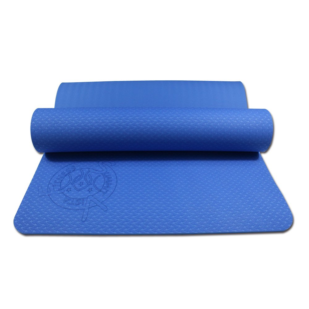 Exercise Pilates Thick Yoga Mat- Reversible Eco Friendly 6mm Light Weight, Ideal for Hot Yoga