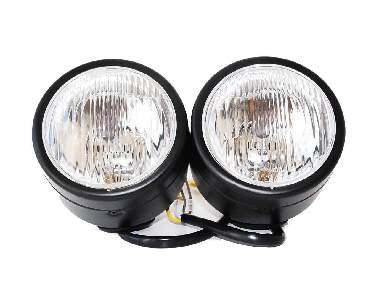 61JvMTm3%2B7L._SL1280_ amazon com black twin headlight motorcycle double dual lamp dominator twin headlight wiring diagram at readyjetset.co