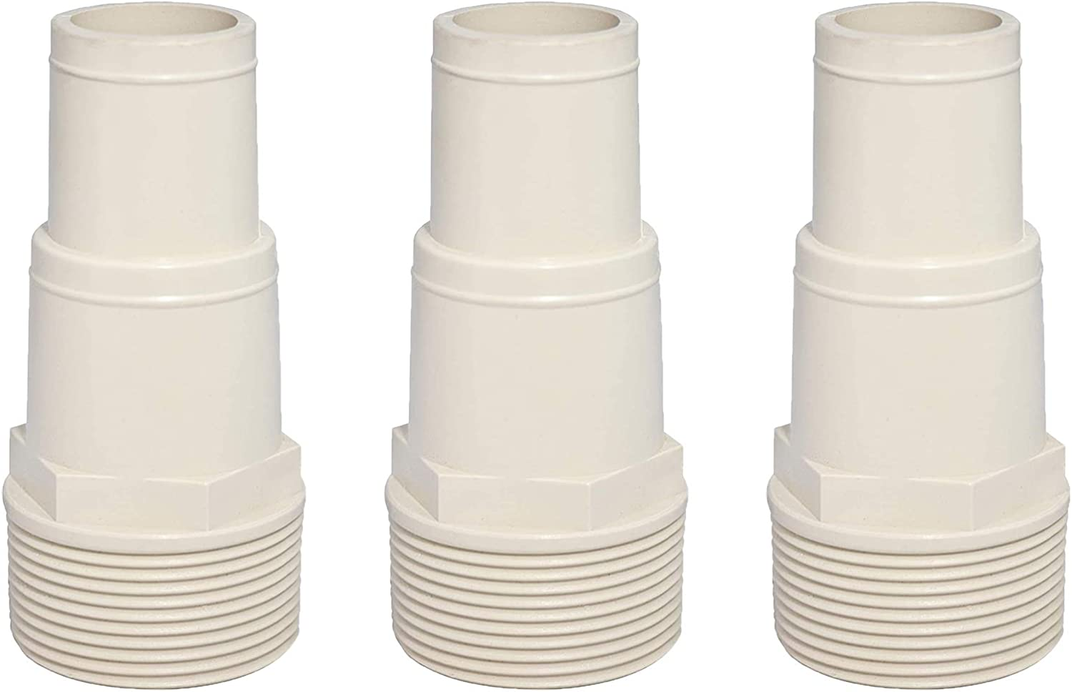 ATIE Pool Hose Male Connector Adapter Threaded End 1-1/2 Inch Replacement for Hayward SPX1091Z7 (3 Pack)