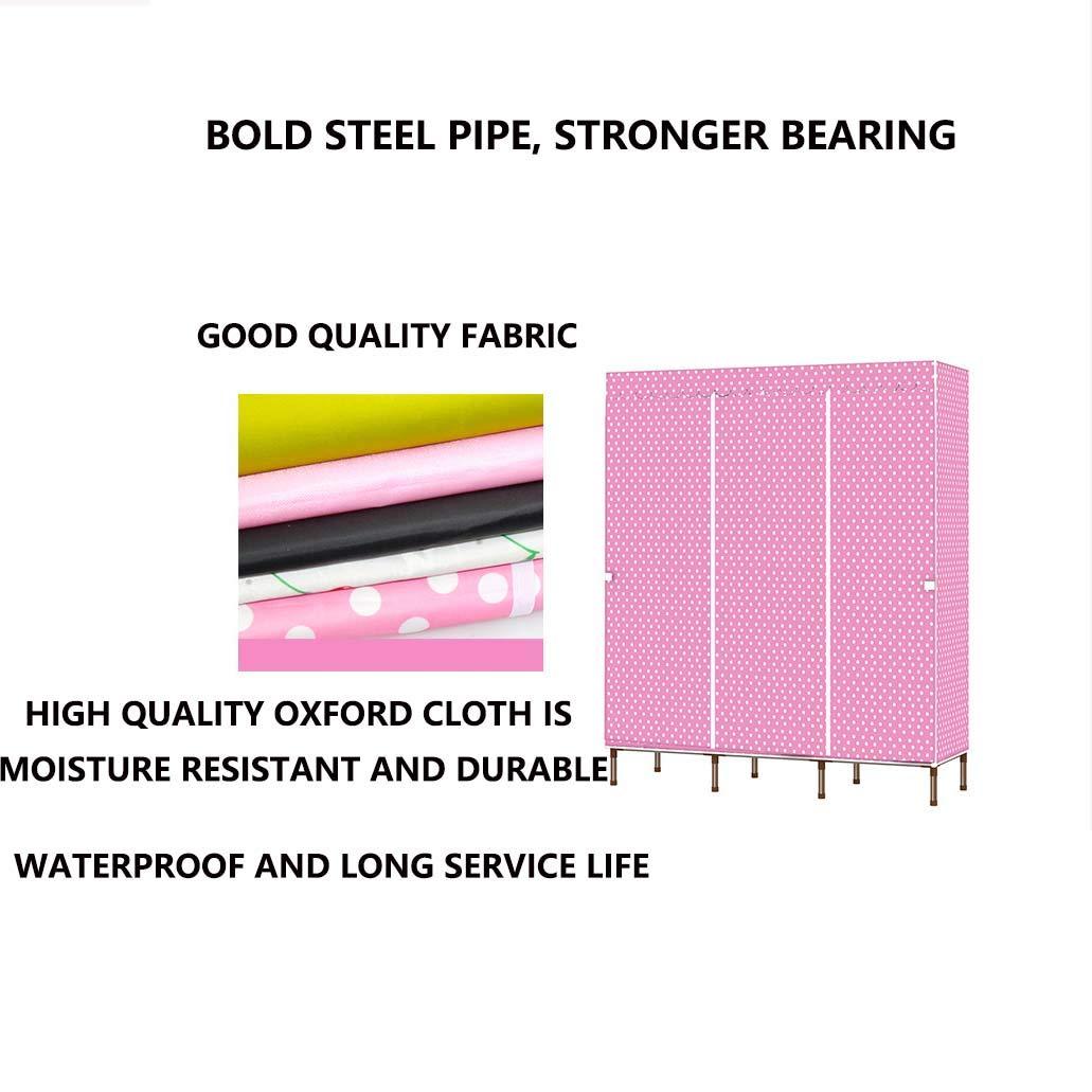 Hai Yan Boutique Cloth Wardrobe Cloth Wardrobe-Easy Assembly Wardrobe, New Pp Compartment, 19mm Paint Tube, Thick Oxford Cloth Home Economy Wardrobe (Color : C) by Hai Yan