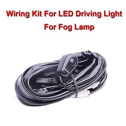 amazon com eyourlife 12v 40a off road atv jeep led light bar wiring rh m amazon com