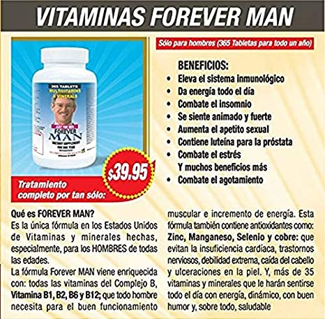solo para hombres vitaminas