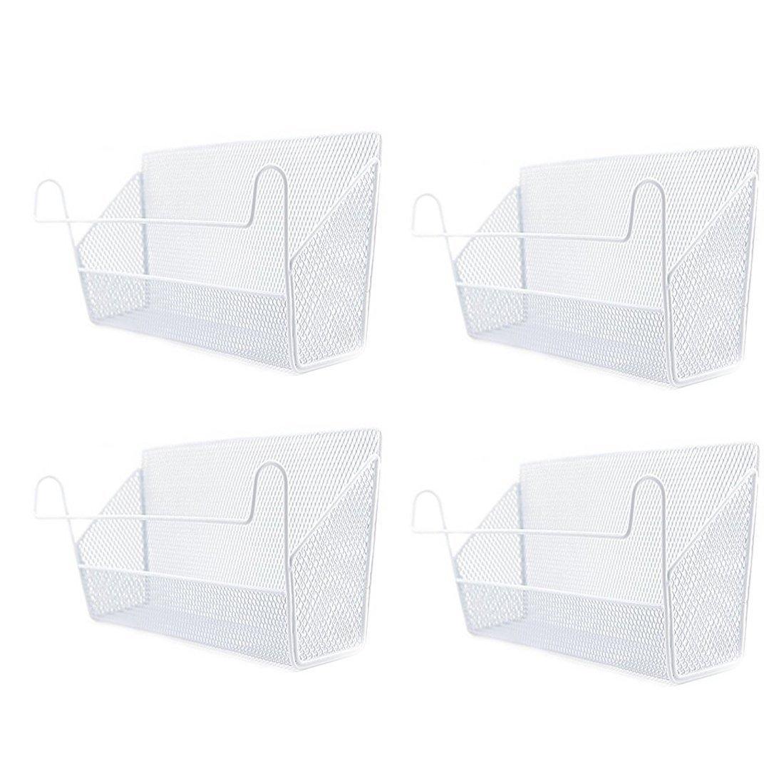 Vicoki 4Pack Bed Baskets Dormitory Bedside Containers Hanging Storage Basket Desktop Corner Shelves Holder Black