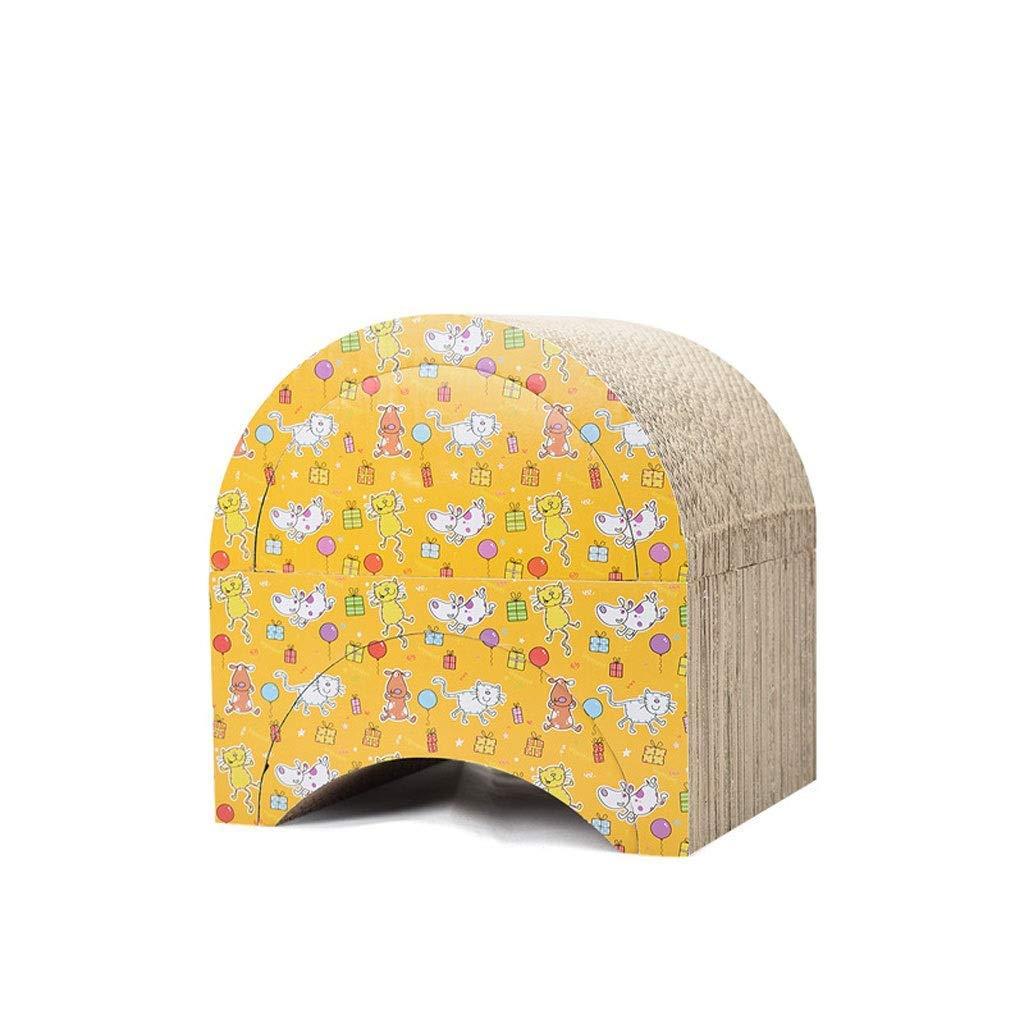 Cat Scratch Cardboard, Fun Cat Wear Corrugated Paper DIY Combination Cat Scratch Board Cat Toy a Good Gift for The cat