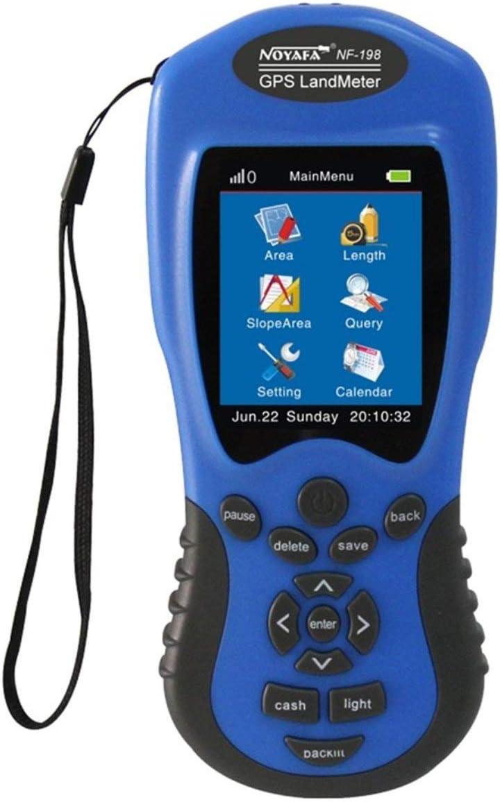 Dispositivos de prueba GPS NF-198 Medidor GPS terrestre Pantalla LCD Valor de medición Figura Área de topografía y topografía de tierras agrícolas JBP-X