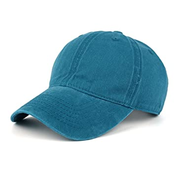 Men Plain Washed Cap Style Cotton Adjustable Baseball Cap Blank Solid Hat Hot